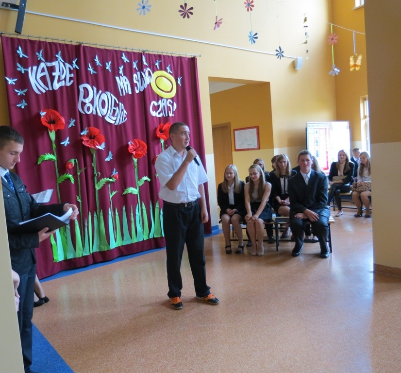 Zakończenie roku w Gimnazjum w Gomulinie