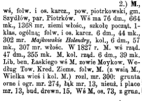 Słownik geograficzny królestwa polskiego - Majków Duży