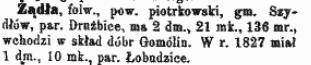 Słownik geograficzny królestwa polskiego - Żądło